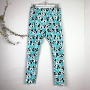 LuLaRoe Minnie Mouse Blue Tall & Curvy Leggings
